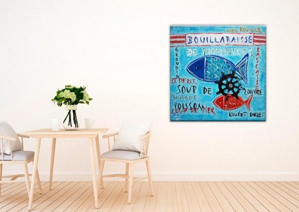 Kathrin Thiede Bouillabaisse II Collage Bild auf Leinwand