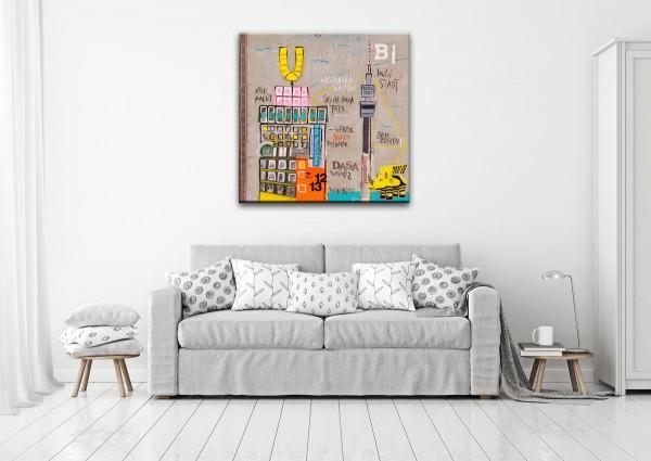 Kathrin Thiede Dortmund Collage Bild auf Leinwand