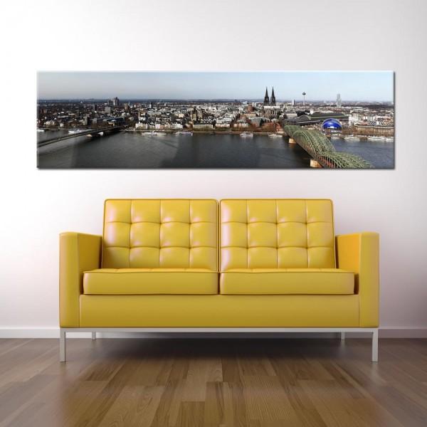 Leinwandbild Köln bei Tag 223 von Wolfgang Weber