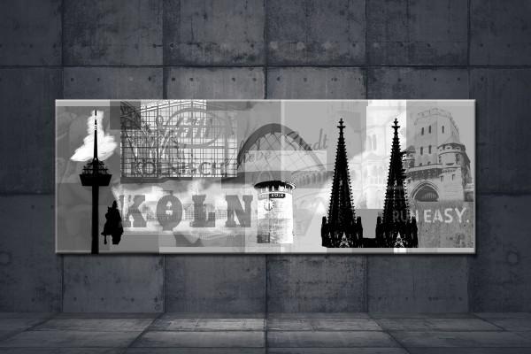 Leinwandbild Deine liebe Stadt Lang grau