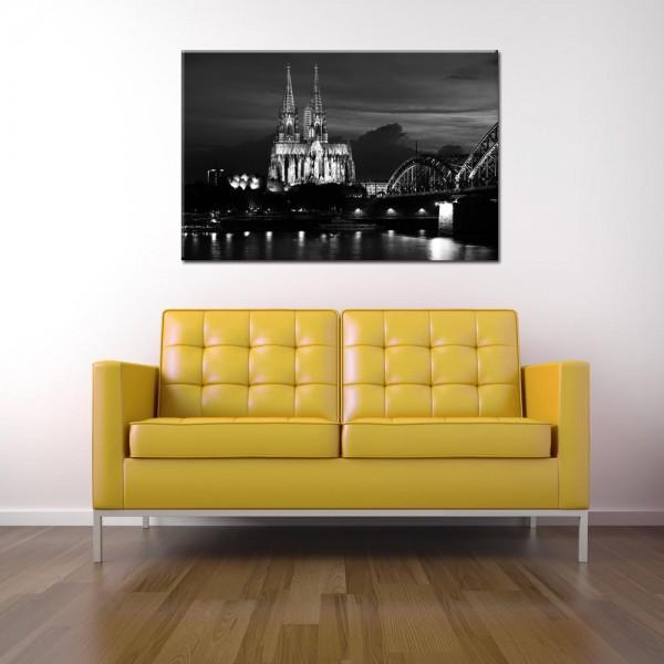 Leinwandbild Köln schwarzweiß 146 von Wolfgang Weber