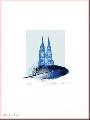 Henry Haselwanger Federdom Blau Auflage 50 Format 30x40