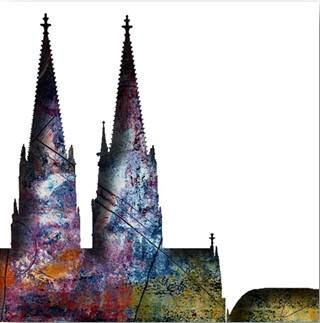 """Leinwandbild """"Der Dom in kunterbunt 1"""" von Vittorio Vitale ab 50x50 cm"""