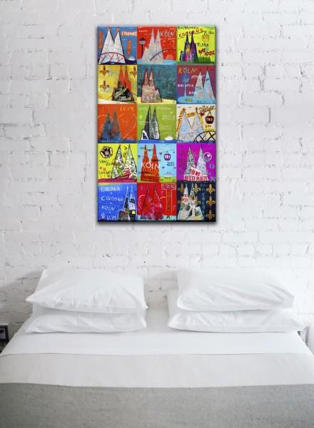 Kathrin Thiede Dom Mosaik VIII Collage Bild auf Leinwand