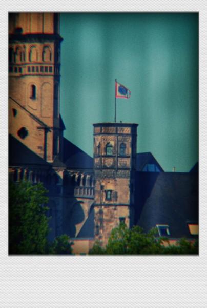 Köln Mini Polaroid Kirche auf MDF