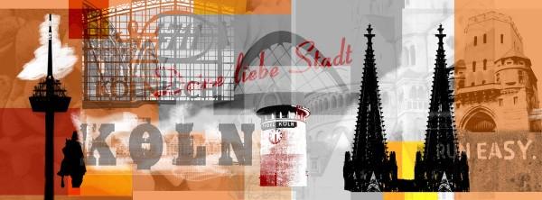 Mini Köln Deine Liebe Stadt orange