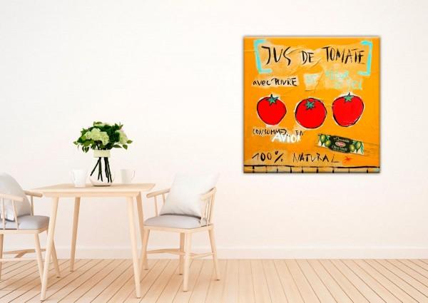 Kathrin Thiede Jus de tomate orange Collage Bild auf Leinwand