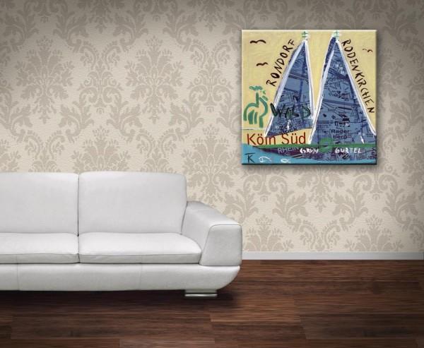 Kathrin Thiede Rondorf Collage Bild auf Leinwand