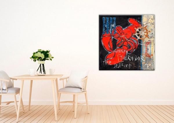 Kathrin Thiede Hummer Collage Bild auf Leinwand