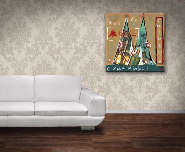 Kathrin Thiede Glockengasse Collage Bild auf Leinwand