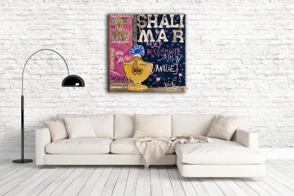 Kathrin Thiede Shalimar I Collage Bild auf Leinwand