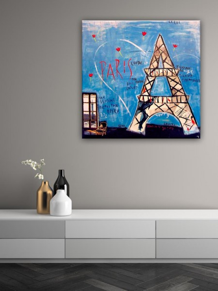 Kathrin Thiede Paris Collage Bild auf Leinwand