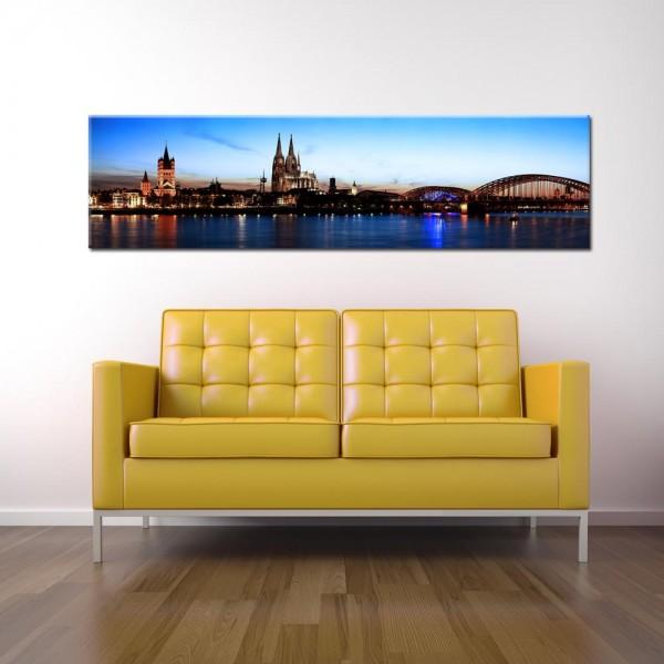 Leinwandbild Köln bei Nacht 170 von Wolfgang Weber