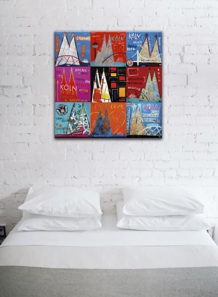 Kathrin Thiede Köln Mosaik VI Collage Bild auf Leinwand