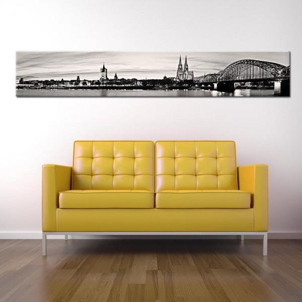 Leinwandbild Köln schwarz weiß 200 von Wolfgang Weber