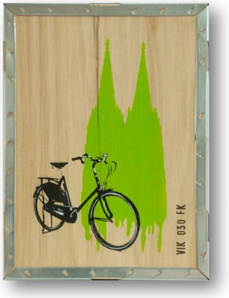 Umweltzone in grün Unikat Graffiti auf Holz