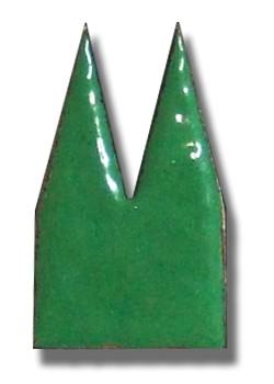 Helmut Brands Dom Einsatz Emaille grün