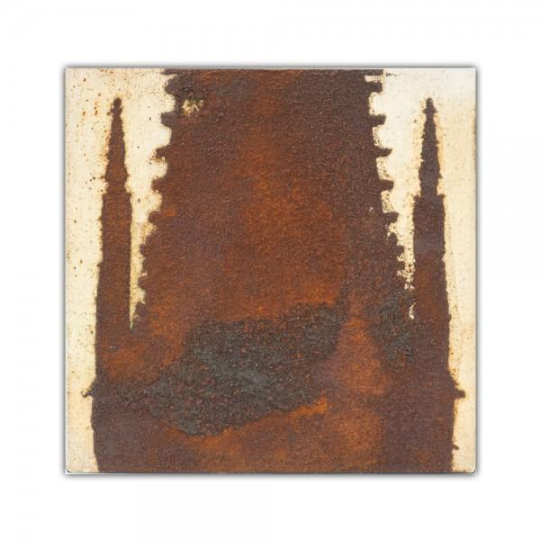 Uwe Reuter Rost Mini Dom Detail Turm 2, 10 x 10 cm