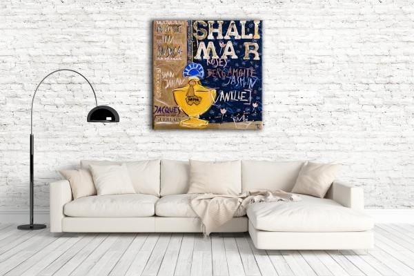 Kathrin Thiede Shalimar II Collage Bild auf Leinwand