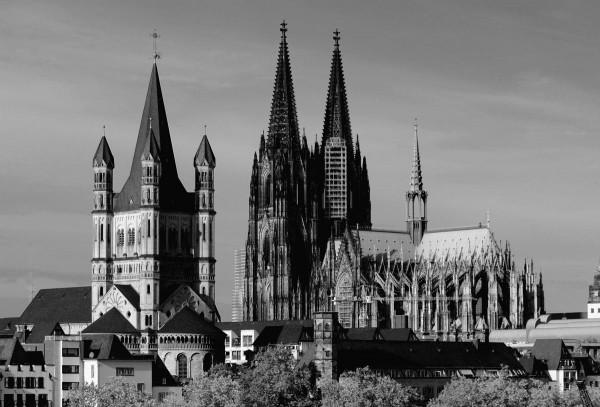 Mini Köln Domblick auf MDF