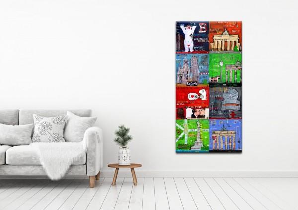 Kathrin Thiede Berlin Mosaik III a Collage Bild auf Leinwand