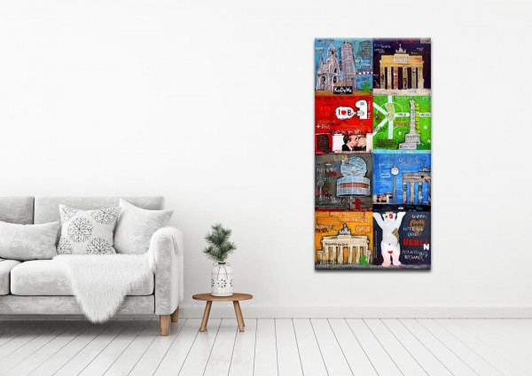 Kathrin Thiede Berlin Mosaik III b Collage Bild auf Leinwand