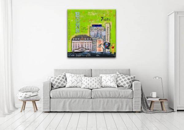 Kathrin Thiede Bonn I grün Collage Bild auf Leinwand