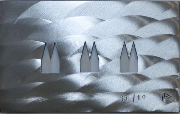 Helmut Brands Stahl Dom Unikat Grundplatte 3 Ausschnitte Rheinschliff