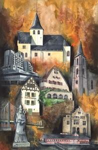 Rodenkirchen, M.Remus 60x80cm