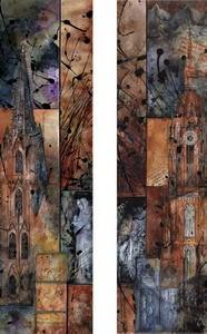 Frankfurter und Kölner Dom, M.Remus 60x80cm