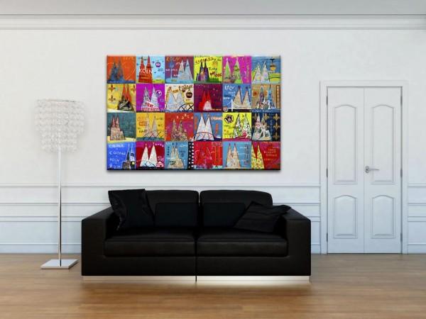 Kathrin Thiede Dom Mosaik I Collage Bild auf Leinwand