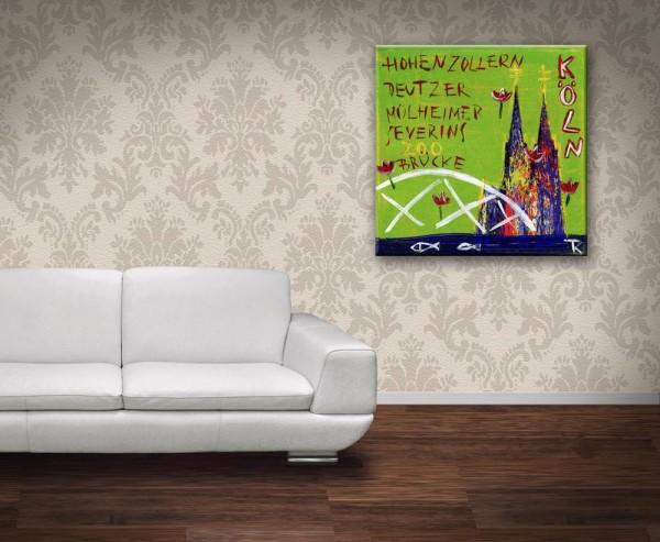 Kathrin Thiede Brücken Collage Bild auf Leinwand