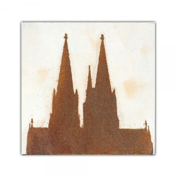 Uwe Reuter Rost Mini Dom Seite, 10 x 10 cm