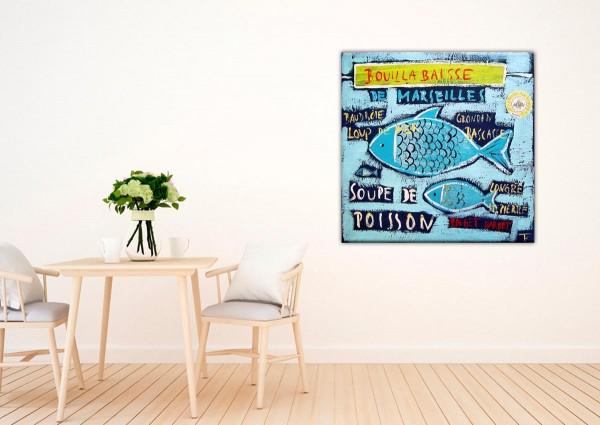 Kathrin Thiede Bouillabaisse I Collage Bild auf Leinwand