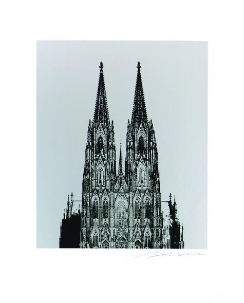Henry Haselwanger Dom Schwarz auf Silber Format 40x50