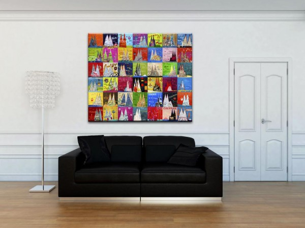 Kathrin Thiede Dom Mosaik IV Collage Bild auf Leinwand