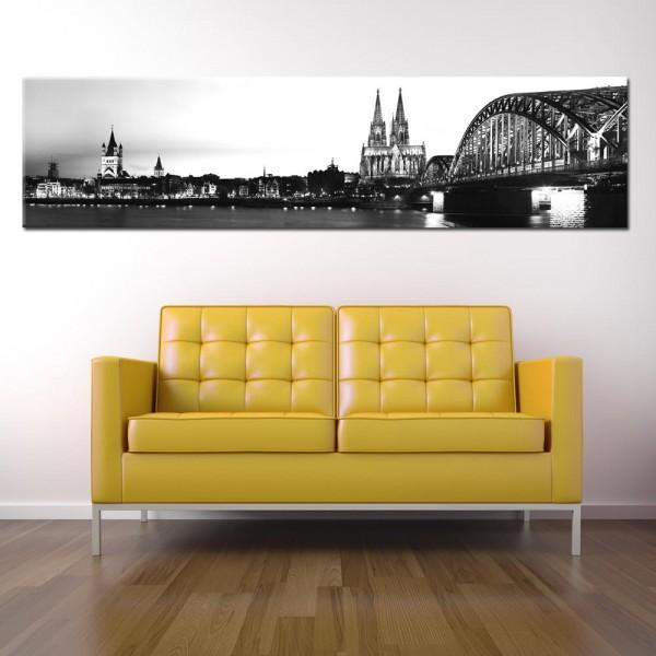 Leinwandbild Köln schwarz weiß 184 von Wolfgang Weber