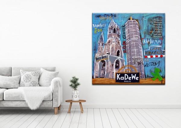 Kathrin Thiede KaDeWe Collage Bild auf Leinwand
