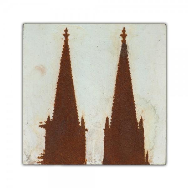 Uwe Reuter Rost Mini Dom Türme, 10 x 10 cm