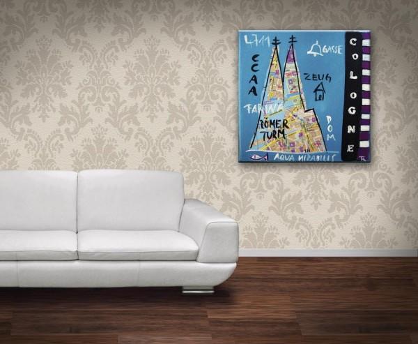 Kathrin Thiede Zeughaus Collage Bild auf Leinwand