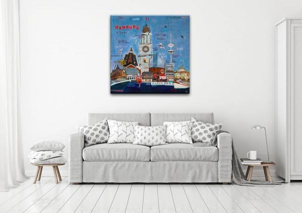 Kathrin Thiede Hamburg Collage Bild auf Leinwand