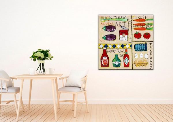 Kathrin Thiede Kitchen Art Collage Bild auf Leinwand
