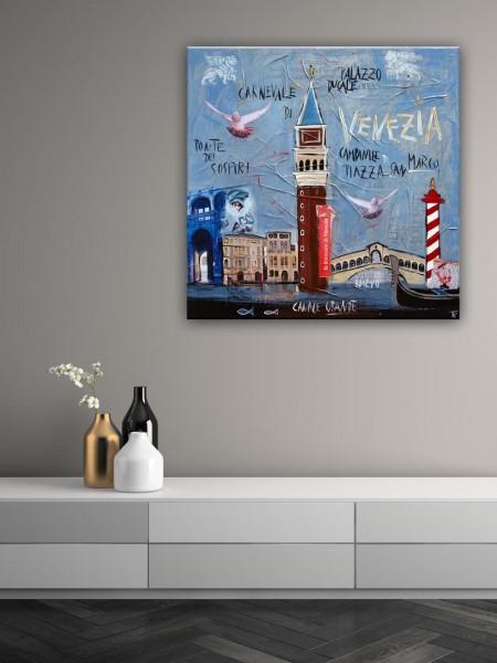 Kathrin Thiede Venedig Collage Bild auf Leinwand