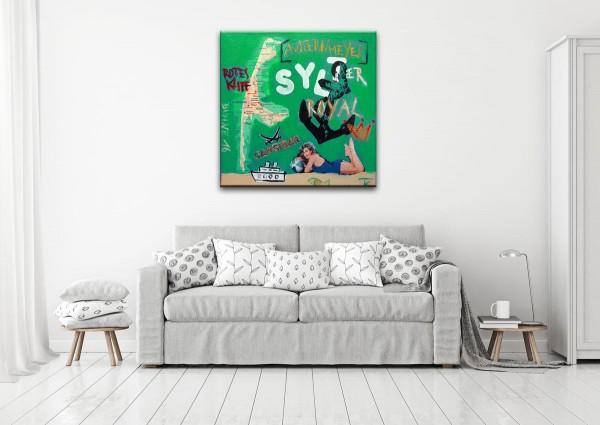 Kathrin Thiede Sylt II Collage Bild auf Leinwand