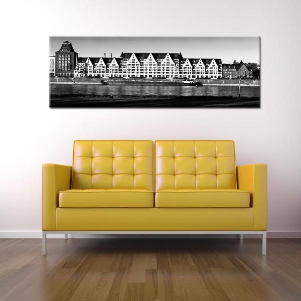 Leinwandbild Köln schwarz weiß 213 von Wolfgang Weber