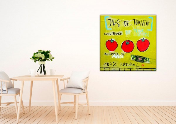 Kathrin Thiede Jus de tomate grün Collage Bild auf Leinwand
