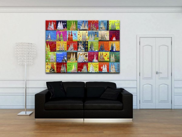Kathrin Thiede Dom Mosaik V Collage Bild auf Leinwand