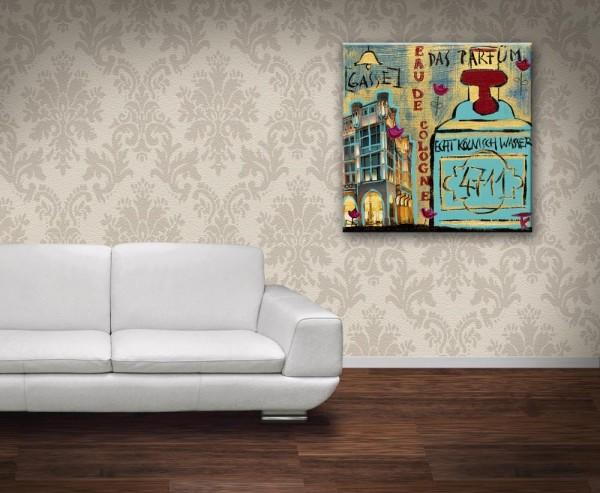 Kathrin Thiede 4711 Collage Bild auf Leinwand
