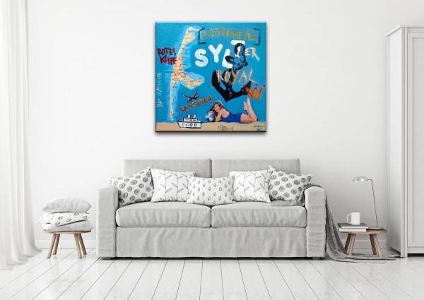 Kathrin Thiede Sylt Collage Bild auf Leinwand