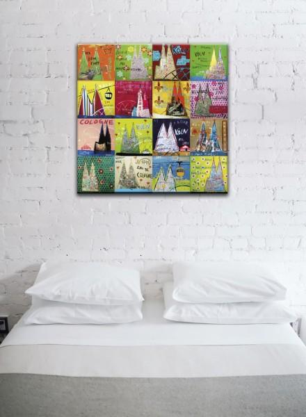 Kathrin Thiede Köln Mosaik XII Collage Bild auf Leinwand